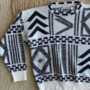 Vintage Gabrielle Sweater with leather accents